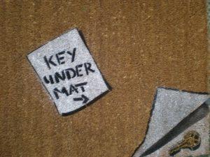 key-under-mat