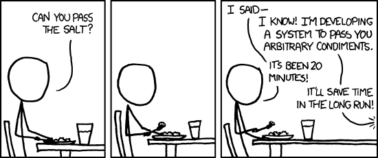 XKCD on over-engineering